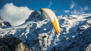 Paragliding-Engelberg-Tandem paragliding flight over Engelberg, Switzerland-2