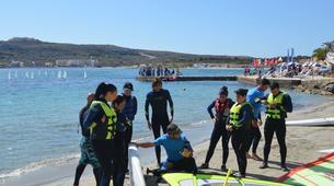 Windsurfing-Malta-Windsurfing taster lesson in Mellieha Bay, Malta-3