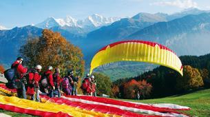 Paragliding-Interlaken-Tandem paragliding flight over Interlaken-8