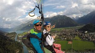 Paragliding-Interlaken-Tandem paragliding flight over Interlaken-3