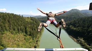 Saut à l'élastique-Klagenfurt-Bungy jumping from the Jauntal bridge (96 m.) in Austria-4