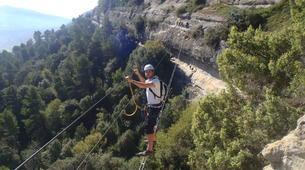 Via Ferrata-Centelles-Via ferrata Les Baumes Corcades near Barcelona-3