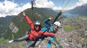 Paragliding-Interlaken-Tandem paragliding flight over Interlaken-2