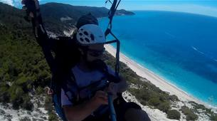 Paragliding-Lefkada-Paragliding flight over Kathisma beach, Lefkada-3