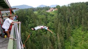 Saut à l'élastique-Klagenfurt-Bungy jumping from the Jauntal bridge (96 m.) in Austria-3