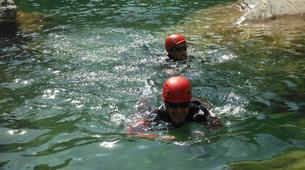 Canyoning-Girona-Family canyoning in Gorges of Albanya in Girona-5