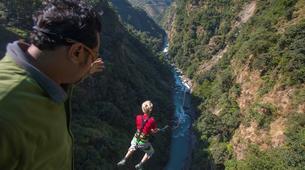 Saut à l'élastique-Kathmandu-Canyon Swing from 160 metres near Kathmandu-3