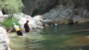 Canyoning-Girona-Family canyoning in Gorges of Albanya in Girona-6
