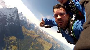 Skydiving-Interlaken-Original Eiger tandem helicopter skydive over Grindelwald near Interlaken-2