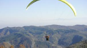 Paragliding-Lake Plastiras-Tandem paragliding flight above the Plastiras lake-1