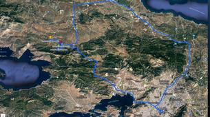 Parapente-Athènes-Tandem paragliding flight in Plataies near Athens-5