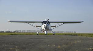 Microlight flying-Paris-Microlight plane first flight in Meaux-Esbly near Paris-1