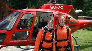 Skydiving-Interlaken-Original Eiger tandem helicopter skydive over Grindelwald near Interlaken-1
