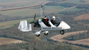 Microlight flying-Paris-Microlight plane first flight in Meaux-Esbly near Paris-6