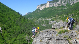 Via Ferrata-Gorges du Tarn-Via Ferrata of Liaucous in Cevennes National Park-1