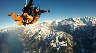 Skydiving-Interlaken-Original Eiger tandem helicopter skydive over Grindelwald near Interlaken-6