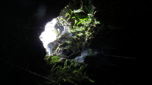 Caving-Piton de la Fournaise-Caving in Tunnels de lave, Reunion Island-5