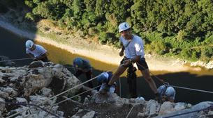 Descente en Rappel-Ardèche-Rappel Géant de 180 mètres dans les Gorges de l'Ardèche-3