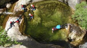 Canyoning-Ardèche-Canyon aventure dans les gorges de la Bourges, Ardèche-6