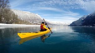 Kayaking-Interlaken-Winter kayaking tour on Lake Brienz, Interlaken-4