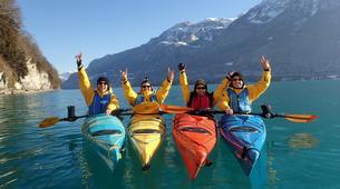 Kayaking-Interlaken-Winter kayaking tour on Lake Brienz, Interlaken-2