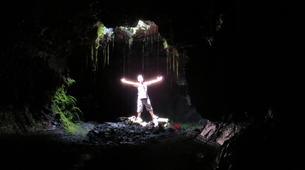 Caving-Piton de la Fournaise-Caving in Tunnels de lave, Reunion Island-3