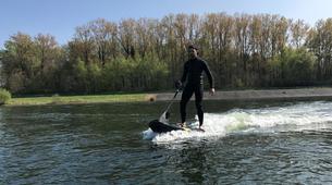 Surfing-Charleroi-Jetsurf in Eau d'Heure lakes, near Charleroi-3