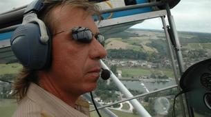 Microlight flying-Tours-Microlight aviation flight in Chenonceau over Châteaux de la Loire-6