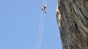 Descente en Rappel-Ardèche-Rappel Géant de 180 mètres dans les Gorges de l'Ardèche-5