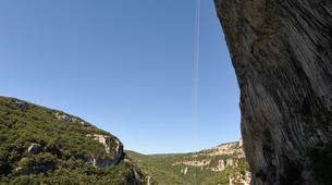 Descente en Rappel-Ardèche-Rappel Géant de 180 mètres dans les Gorges de l'Ardèche-2