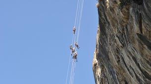Descente en Rappel-Ardèche-Rappel Géant de 180 mètres dans les Gorges de l'Ardèche-4