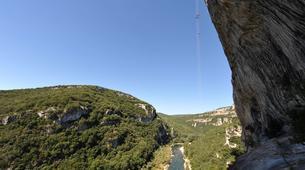 Descente en Rappel-Ardèche-Rappel Géant de 180 mètres dans les Gorges de l'Ardèche-1