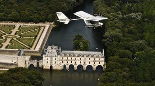 Microlight flying-Tours-Microlight aviation flight in Chenonceau over Châteaux de la Loire-1