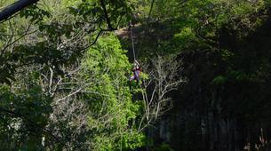Canyoning-Ardèche-Aerocanyon Ultra avec 360m de Tyroliennes dans les gorges de l'Ardèche-2