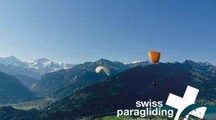 Paragliding-Interlaken-Tandem paragliding flight in Beatenberg near Interlaken-4