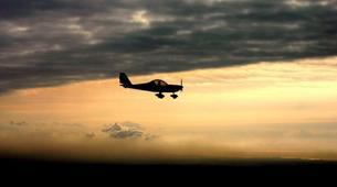 Microlight flying-Lille-Microlight first flight in Bondues near Lille-6