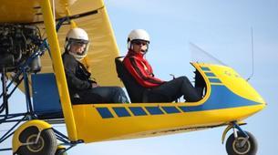 Microlight flying-Lille-Microlight first flight in Bondues near Lille-1