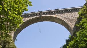 Saut à l'élastique-Barèges-Saut à l'Elastique du Pont Napoléon (90m) à Luz Saint Sauveur-3