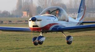 Microlight flying-Lille-Microlight first flight in Bondues near Lille-5