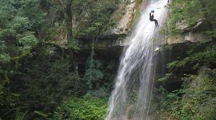 Canyoning-Jura-Gorges de Malvaux aquatic canyoning in Jura region-3