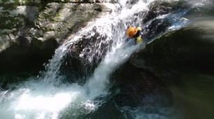 Canyoning-Jura-Gorges de Malvaux aquatic canyoning in Jura region-1