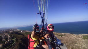 Parapente-Murcie-Tandem paragliding flight near Murcia-1