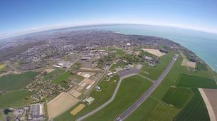Microlight flying-Le Havre-Microlight first flight between Etretat & Deauville near Le Havre-5