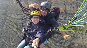 Parapente-Murcie-Tandem paragliding flight near Murcia-4