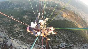 Paragliding-Province of Lleida-Tandem paragliding flight over Àger, Lérida-8