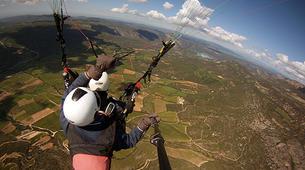 Paragliding-Province of Lleida-Tandem paragliding flight over Àger, Lérida-6