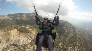 Paragliding-Province of Lleida-Tandem paragliding flight over Àger, Lérida-9