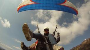 Paragliding-Province of Lleida-Tandem paragliding flight over Àger, Lérida-7