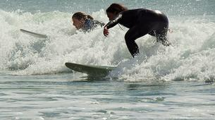 Surfing-Matakana-Beginner's surfing lessons on the Matakana coast, New Zealand-1