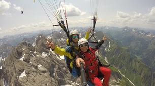 Paragliding-Oberstdorf-Tandem paragliding flight (2224 m.) in Oberstdorf-5